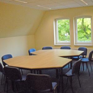 Gruppenraum 1 der Kontakt- und Informationsstelle für Selbsthilfe Spremberg (KiSS)